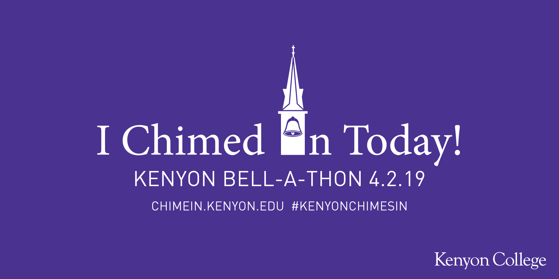 Kenyon College Bell-A-Thon promotion